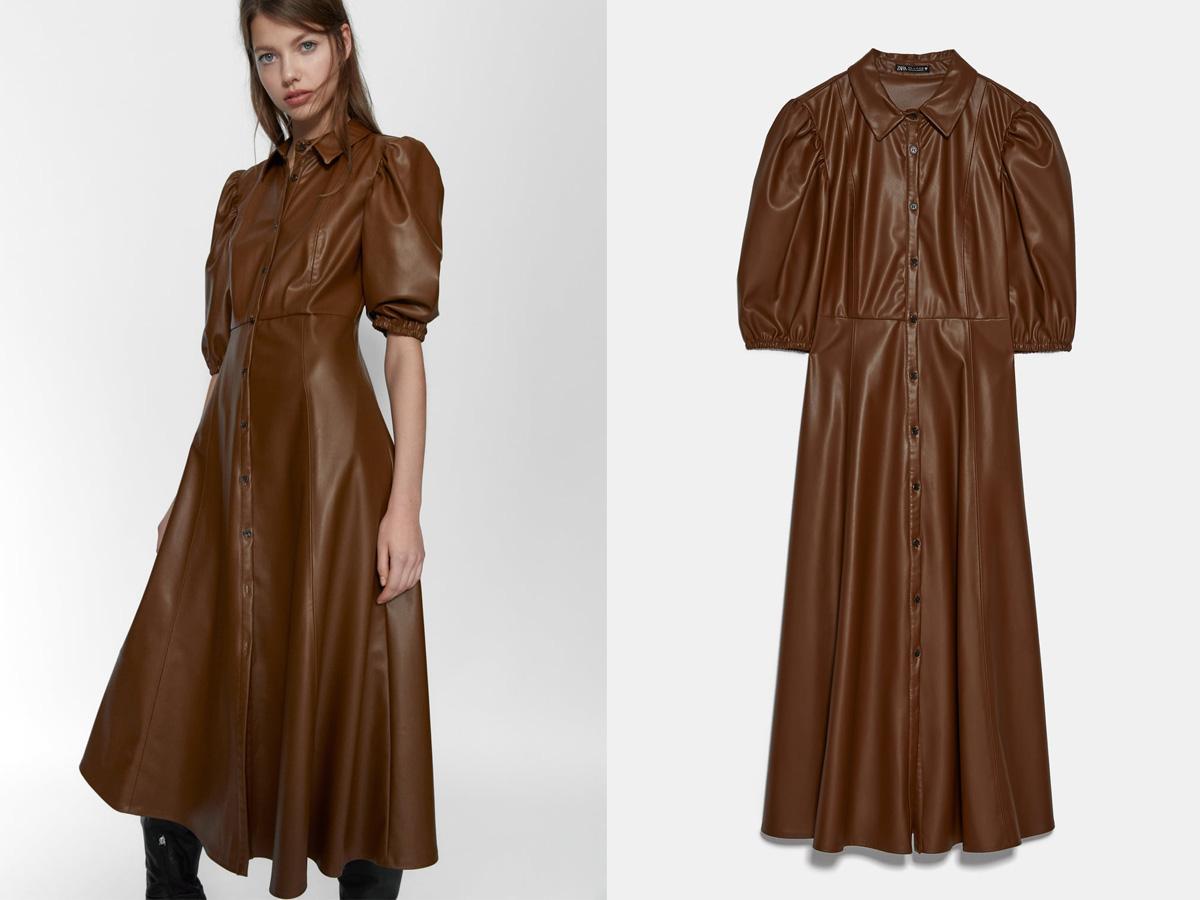 Skórzana sukienka Zara