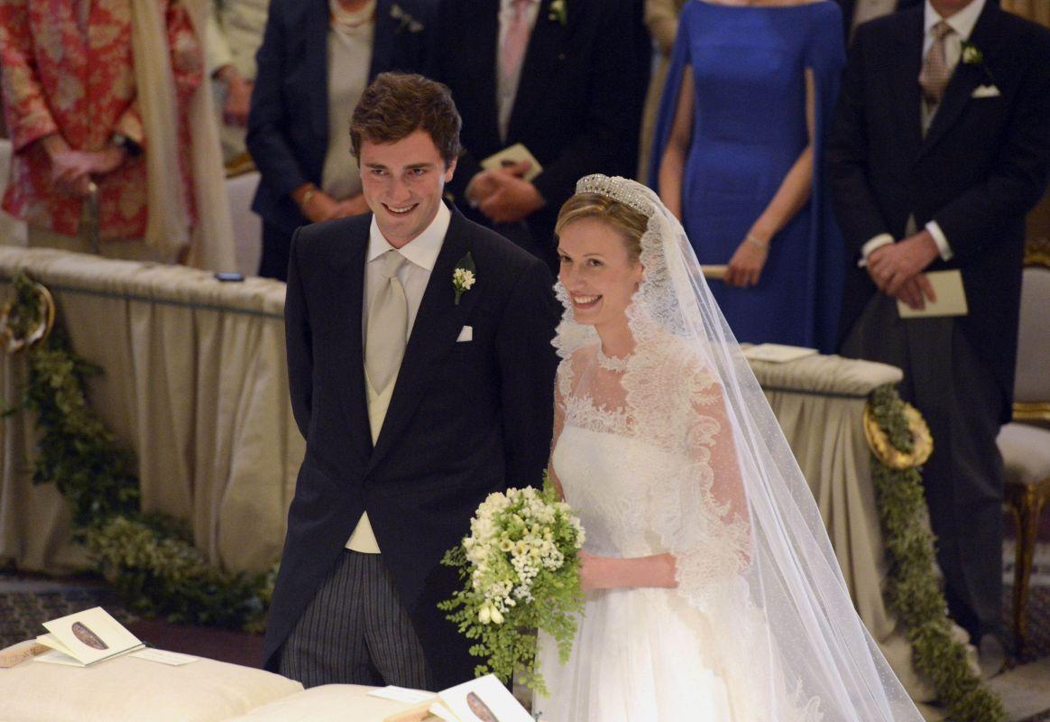 Ślub księcia Belgii Amedeo i Elisabett Rosboch Von Wolkenstein