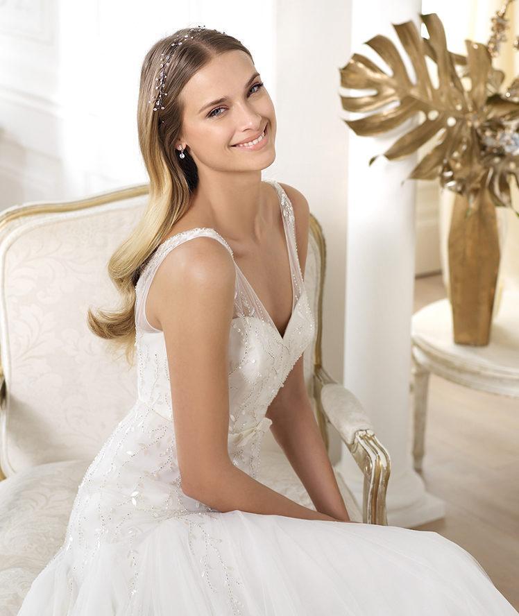 Ślubne ozdoby do włosów Pronovias 2014