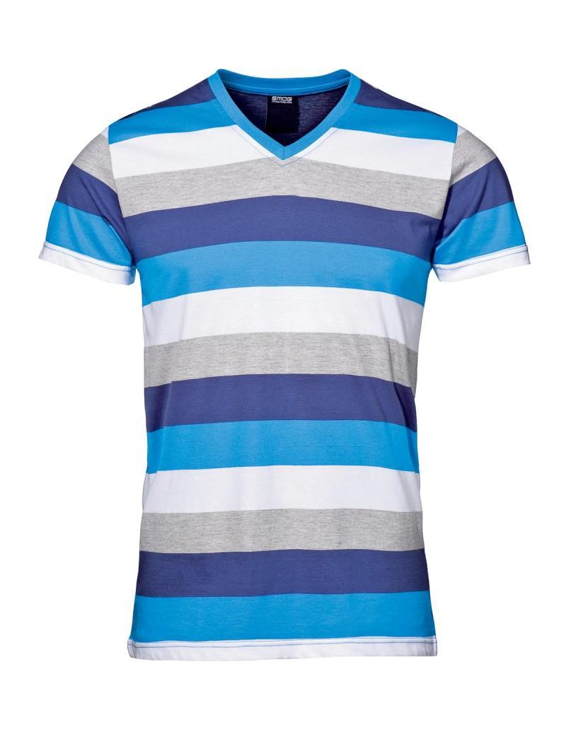 niebieski t-shirt New Yorker w paski - kolekcja wiosenna