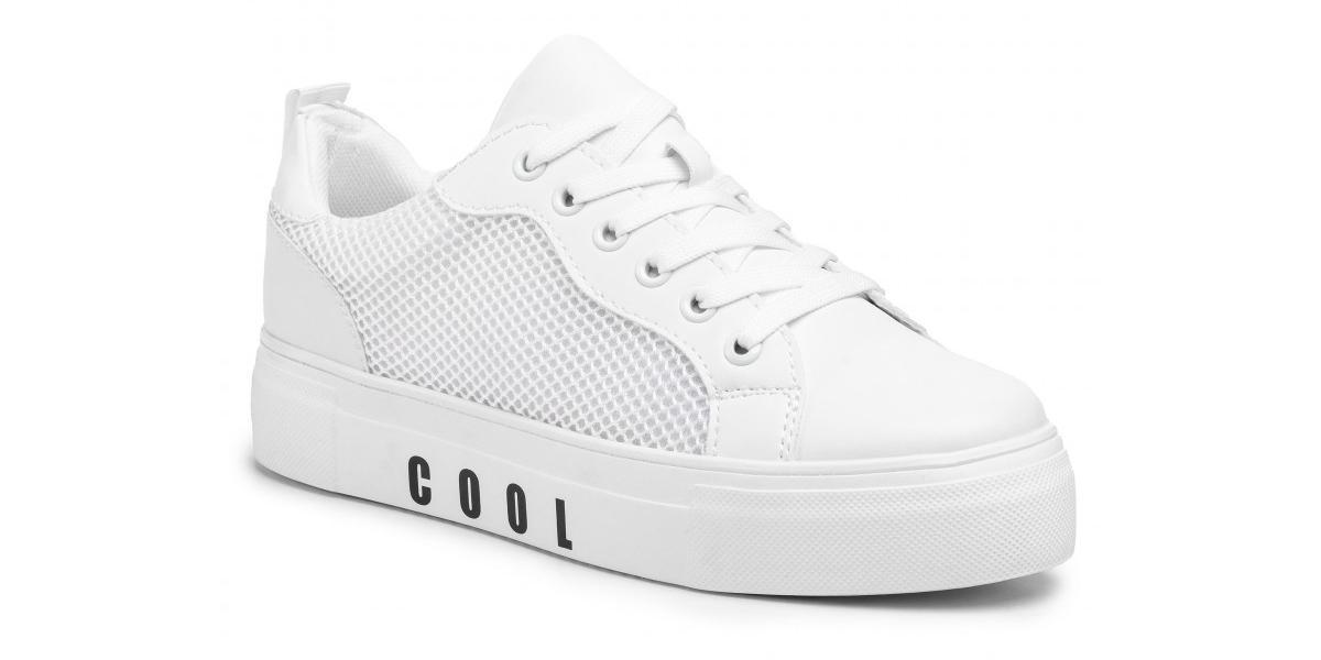 białe sneakersy na platformie Jenny Fairy