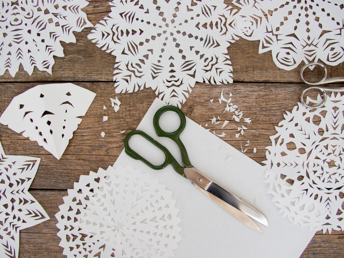 Śnieżynka z papieru