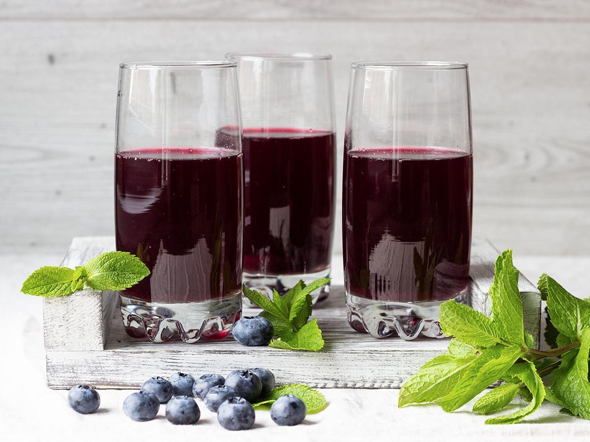przepis na sok z jagód