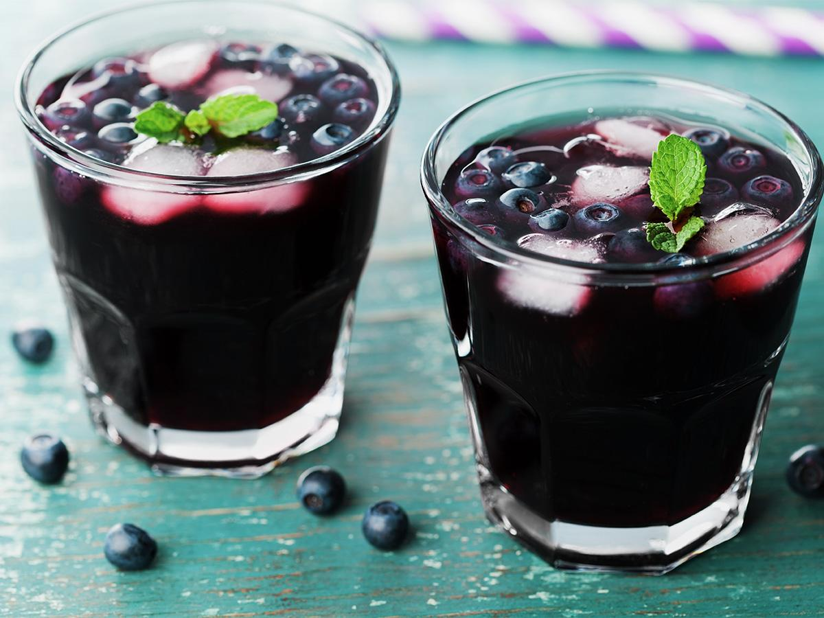 przepis na sok borówkowy