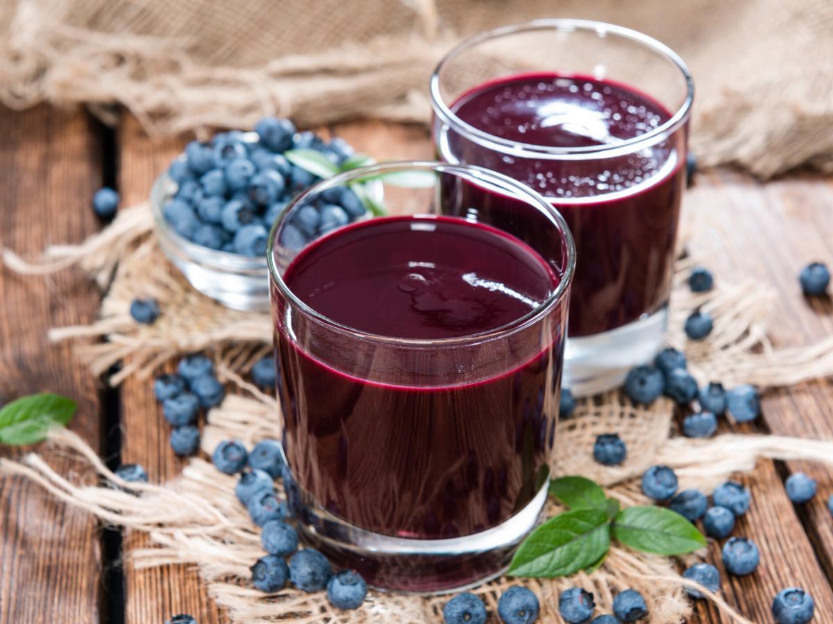 Przepis na sok z borówki