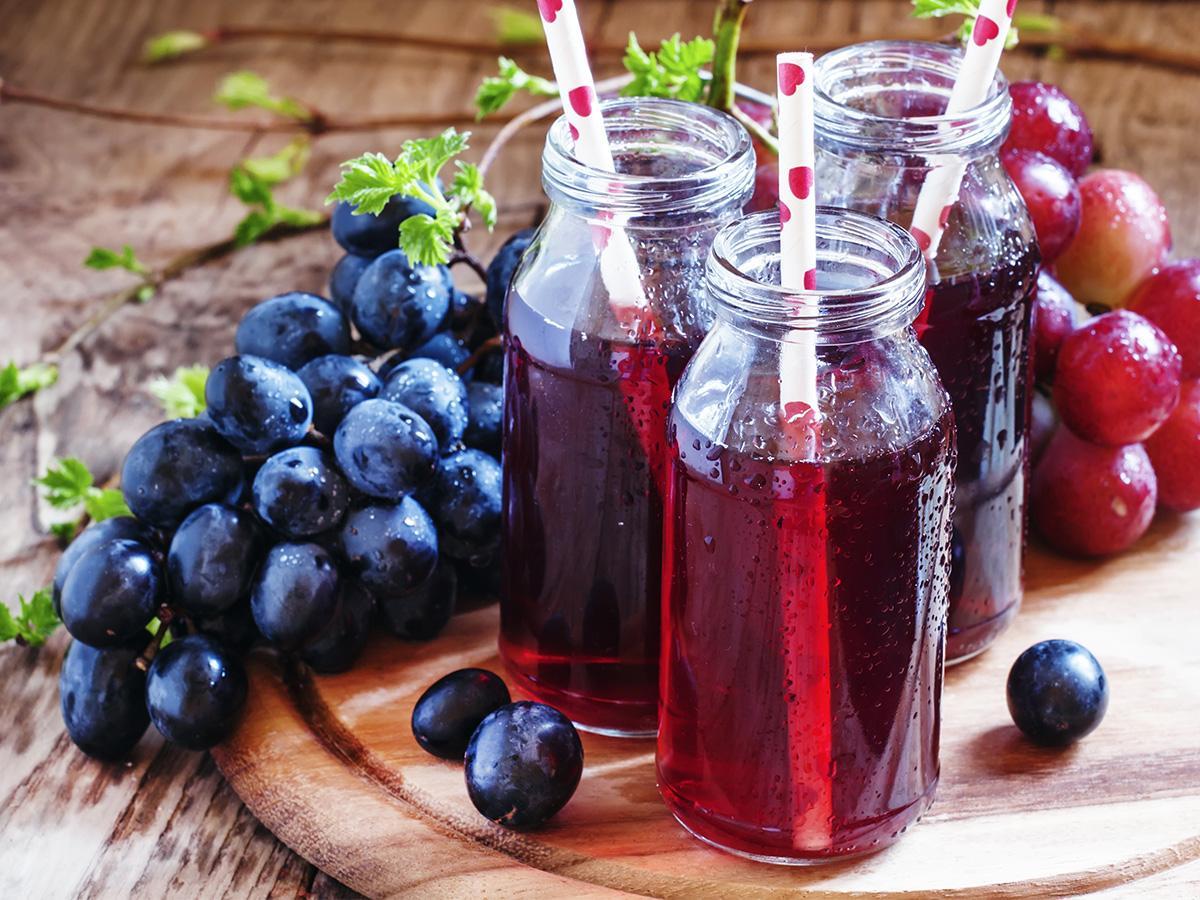 przepis na sok z winogron