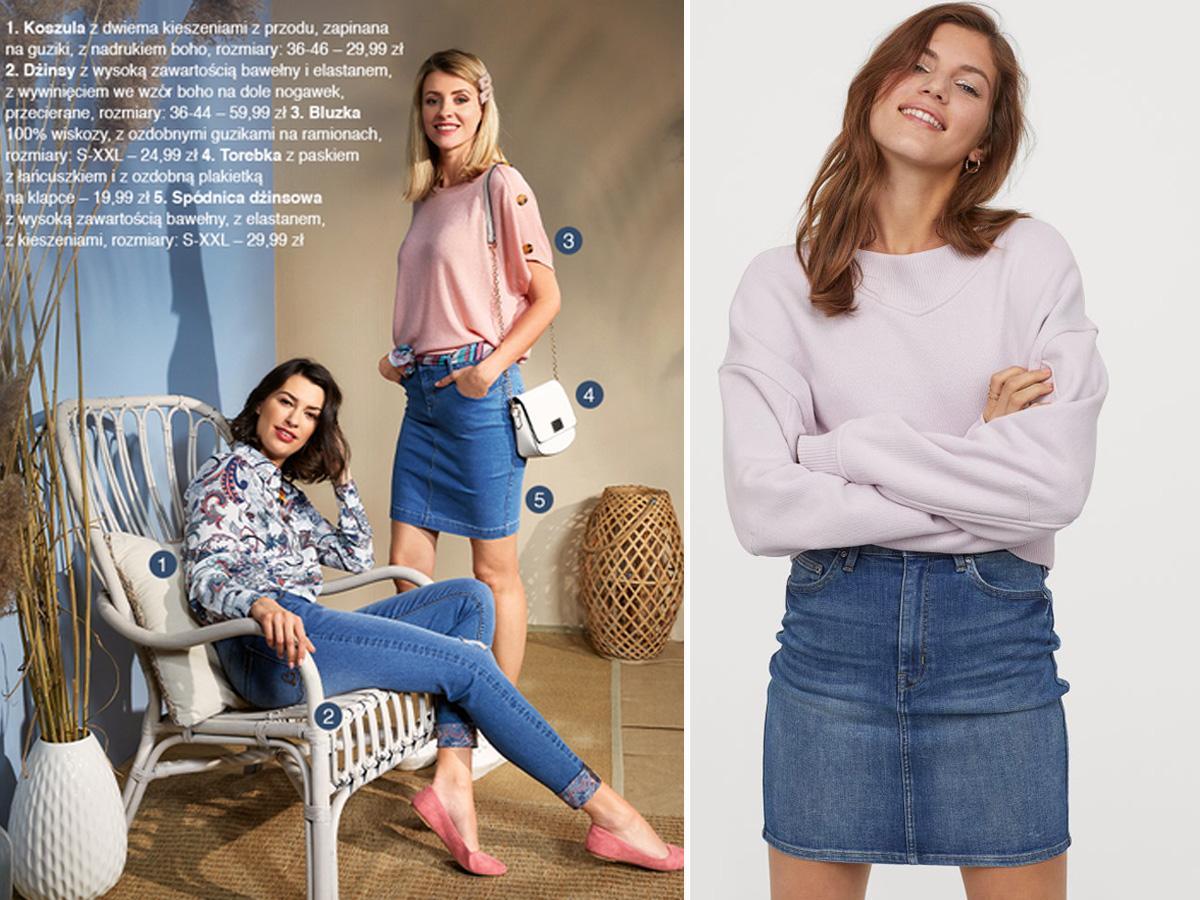 Dżinsowa spódnica z Pepco i H&M