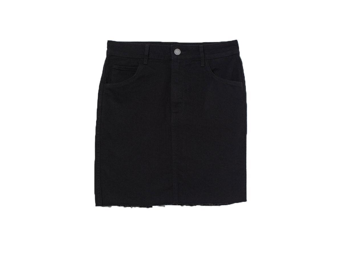 Czarna spódnica jeansowa H&M