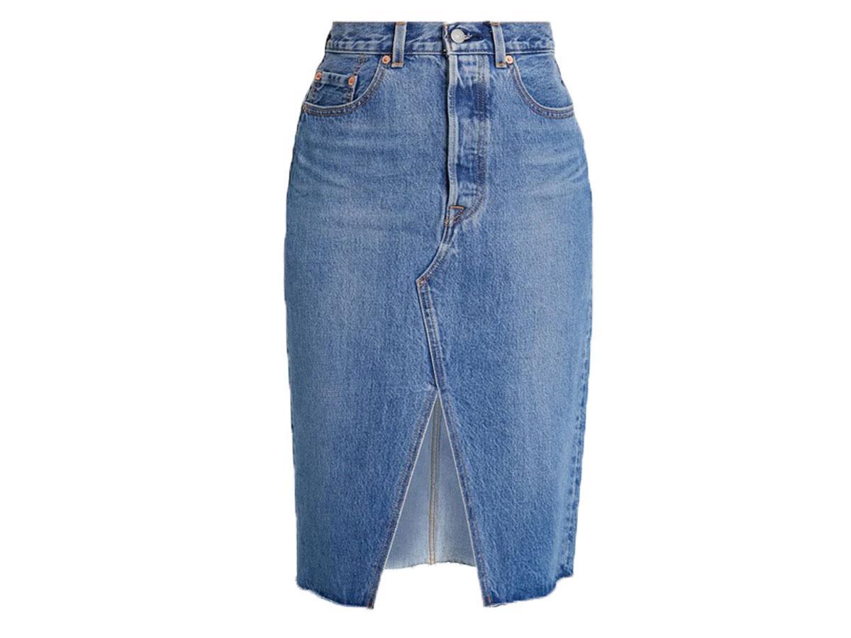 Spódnica jeansowa z rozporkiem Levi's