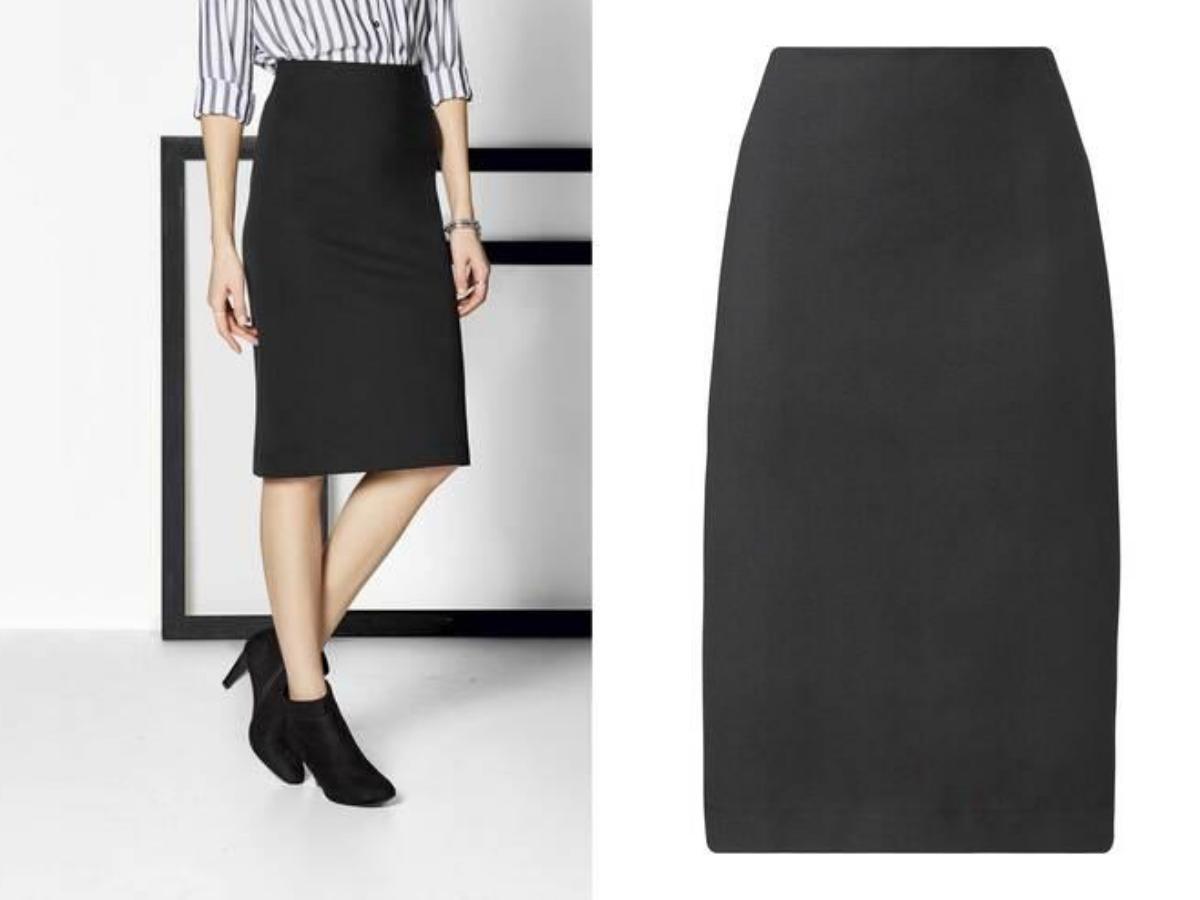 Czarna spódnica ołówkowa Lidl