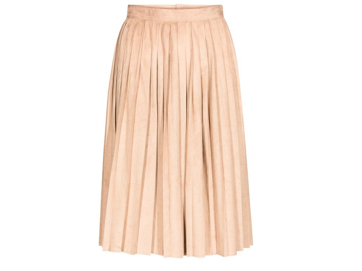 Plisowana spódnica w kolorze pudrowego różu Quoisque