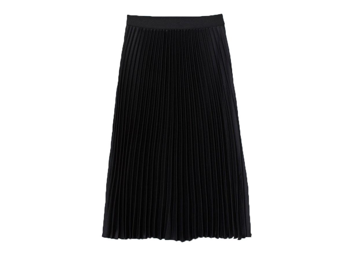 Czarna plisowana spódnica midi H&M