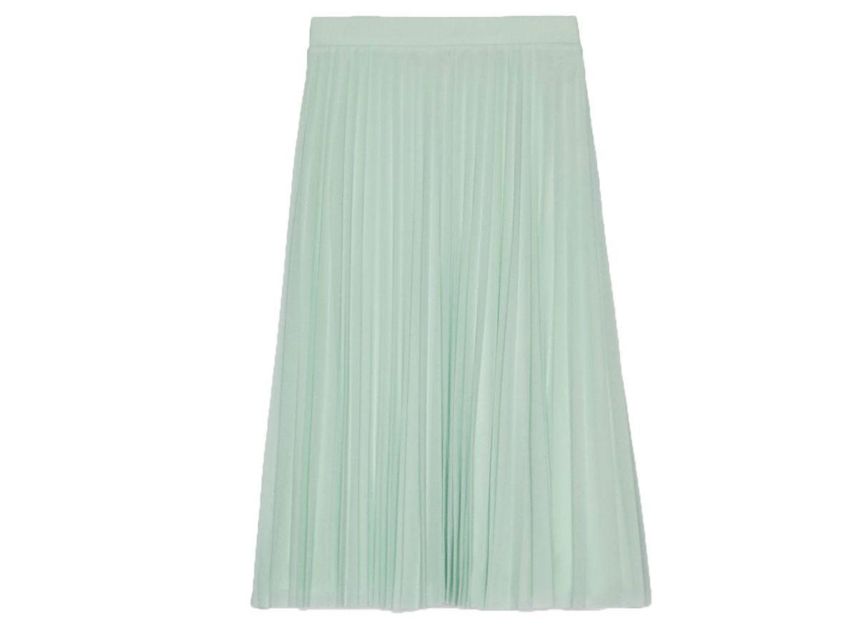 Tiulowa spódnica midi w kolorze miętowym Bershka
