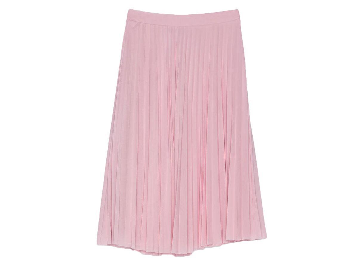 Tiulowa plisowana spódnica midi Bershka