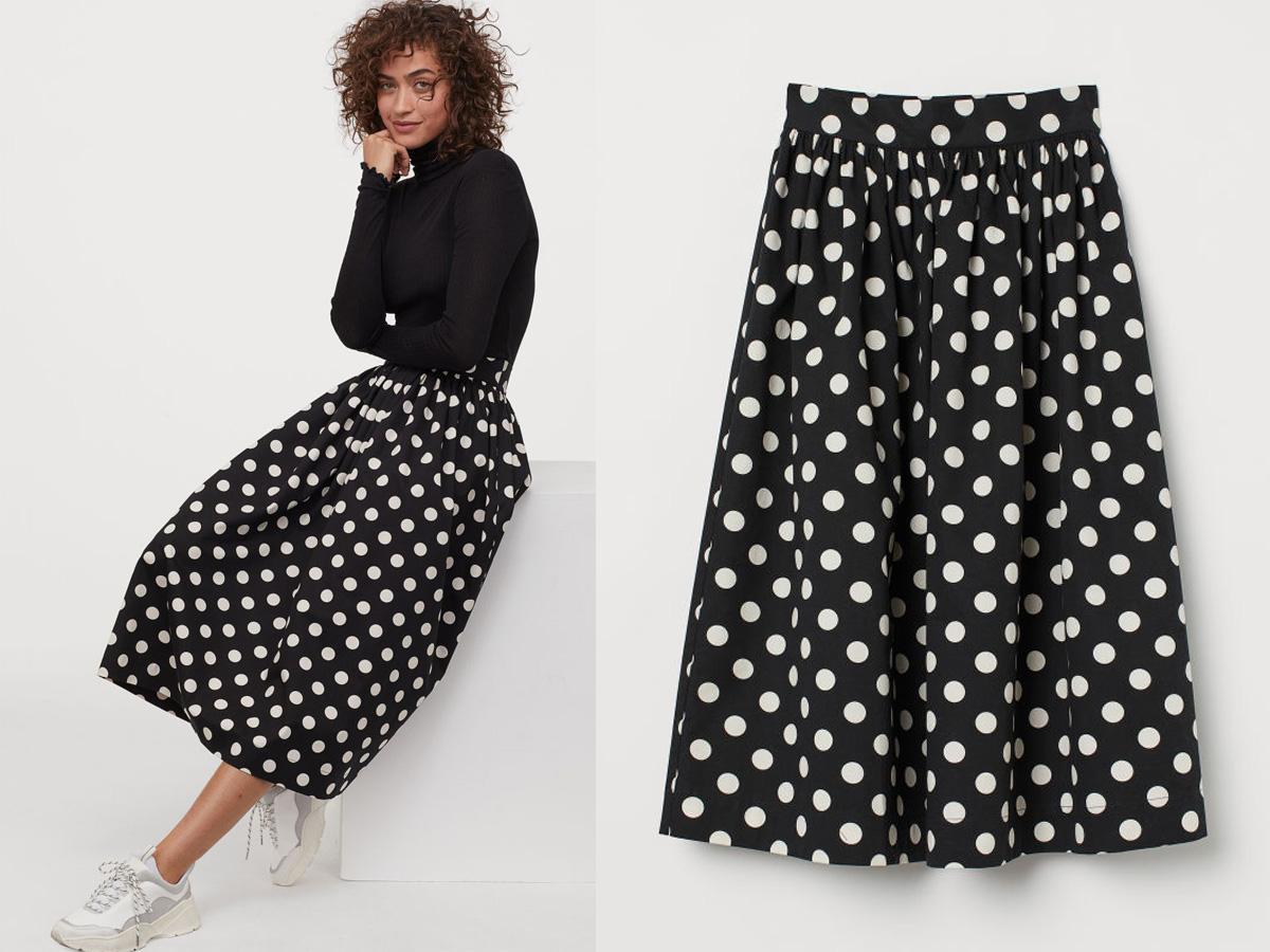 spódnica w grochy z H&M