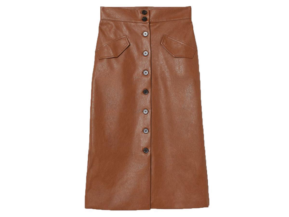 spódnica ze skóry ekologicznej H&M