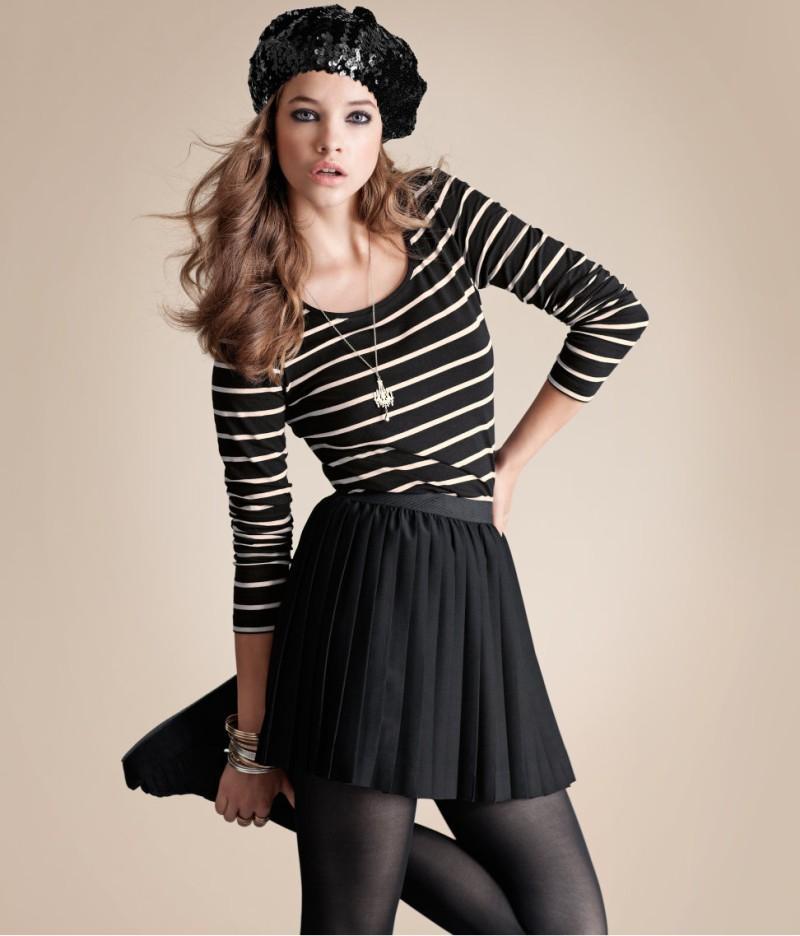 czarna spódnica H&M jesień 2011 Spódnice H&M na jesień i