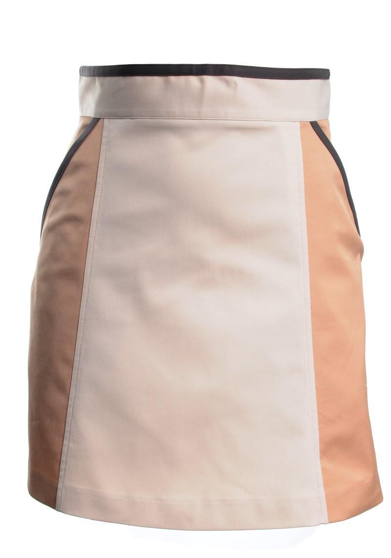 ecru spódnica H&M ołówkowa - jesień/zima 2010