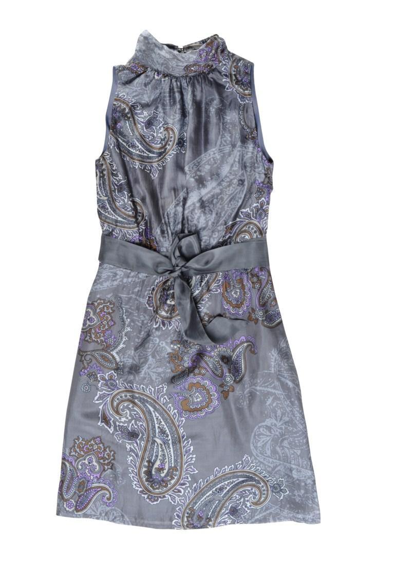 popielata sukienka Tatuum we wzory - wiosna-lato 2011