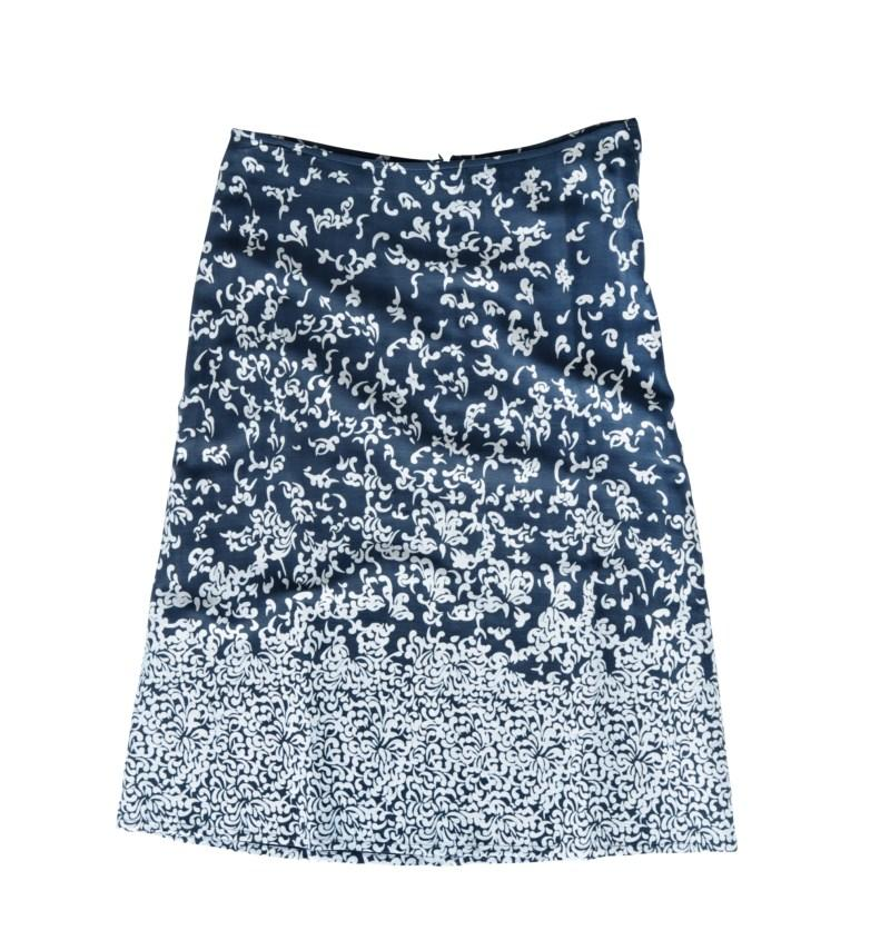granatowa spódnica Tatuum w kwiaty - wiosna-lato 2011
