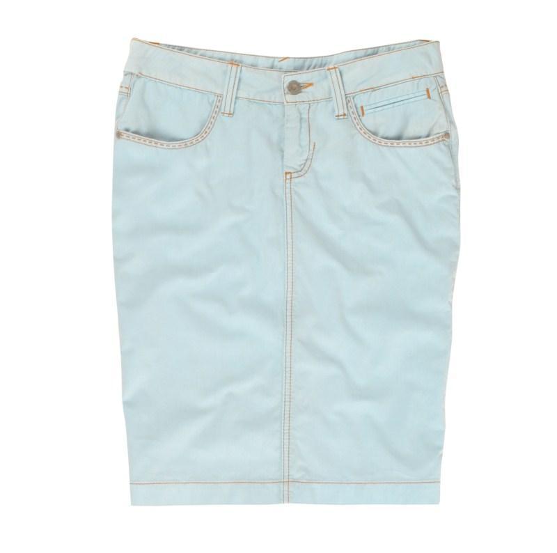 błękitna spódnica Tatuum dżinsowa - trendy wiosna-lato