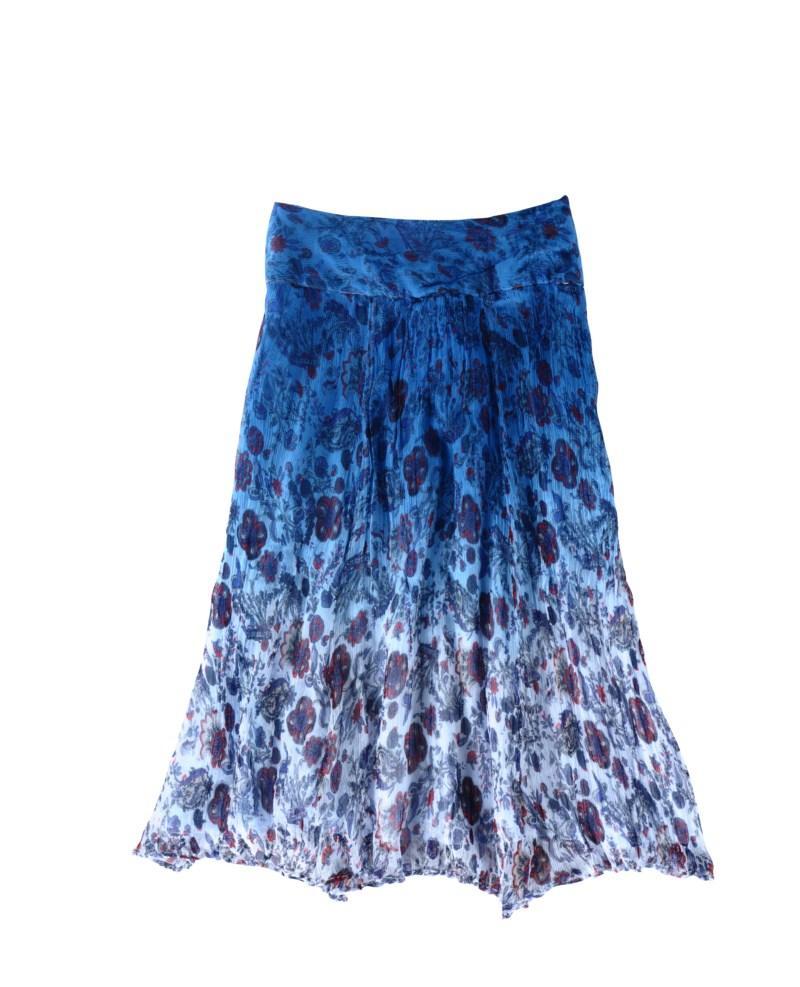 niebieska sukienka Tatuum w kwiaty - z kolekcji wiosna-lato 2011