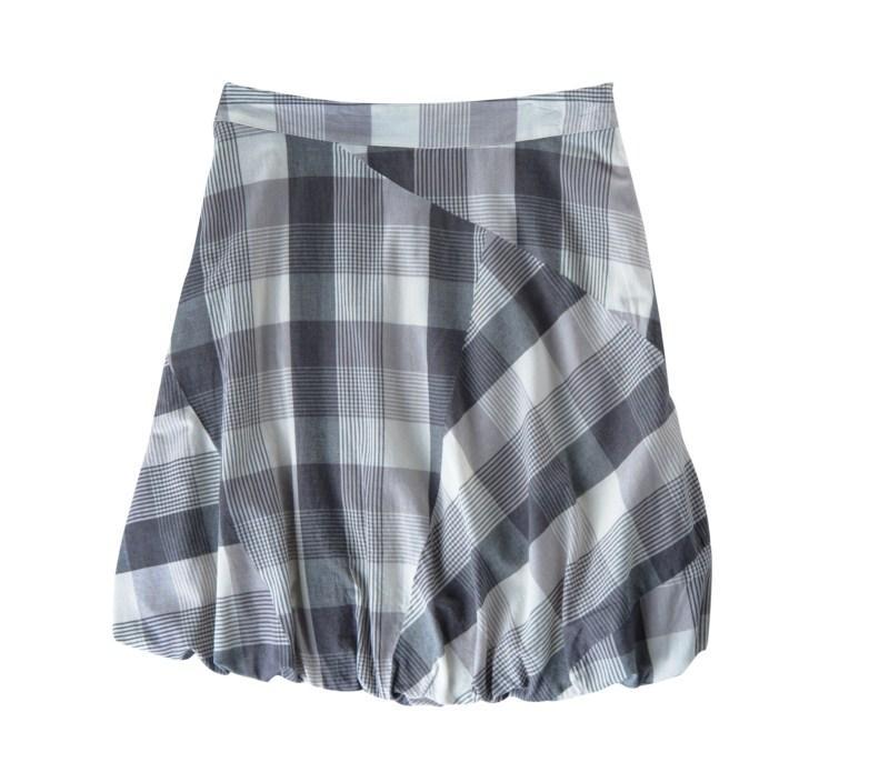 popielata spódnica Tatuum w kratkę - kolekcja wiosenno/letnia