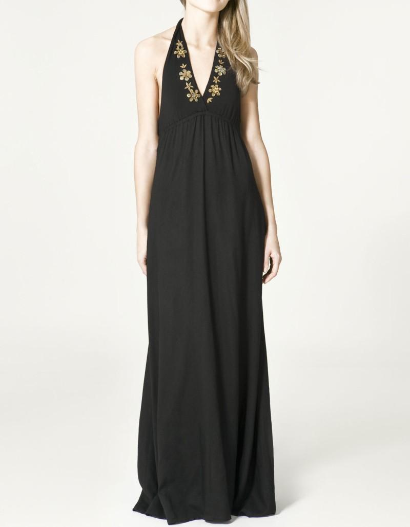 czarna sukienka ZARA długa - z kolekcji wiosna-lato 2011