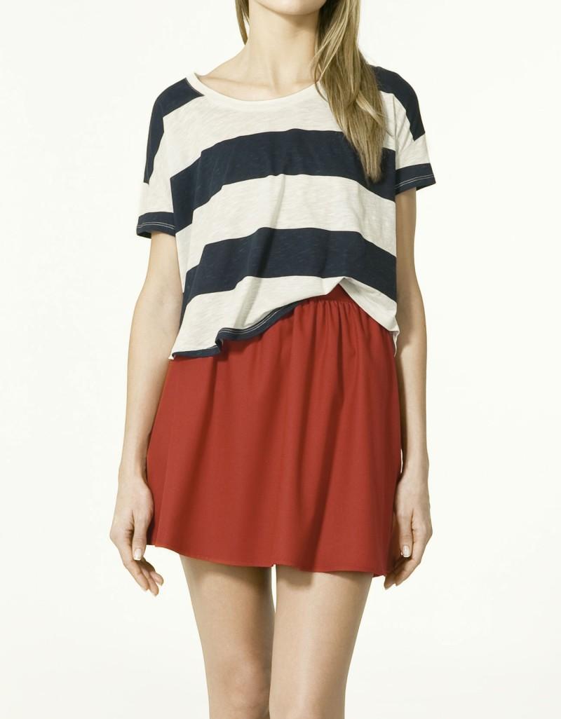 czerwona spódnica ZARA - moda 2011