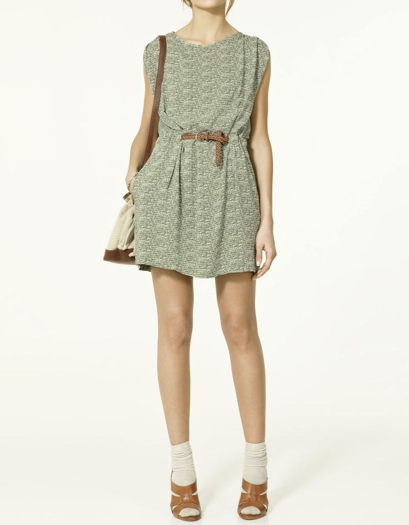 sukienka ZARA we wzory - z kolekcji wiosna-lato 2011