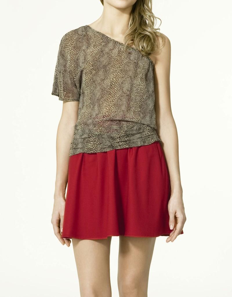 czerwona spódnica ZARA - moda wiosna/lato