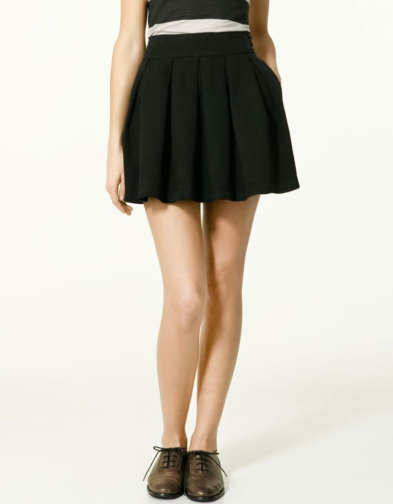 czarna spódnica ZARA - z kolekcji wiosna-lato 2011