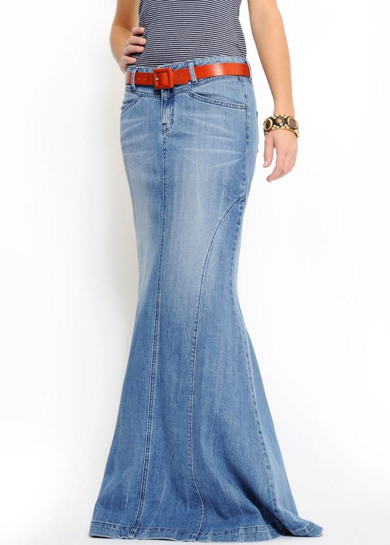 niebieska spódnica Mango długa - kolekcja wiosenno/letnia