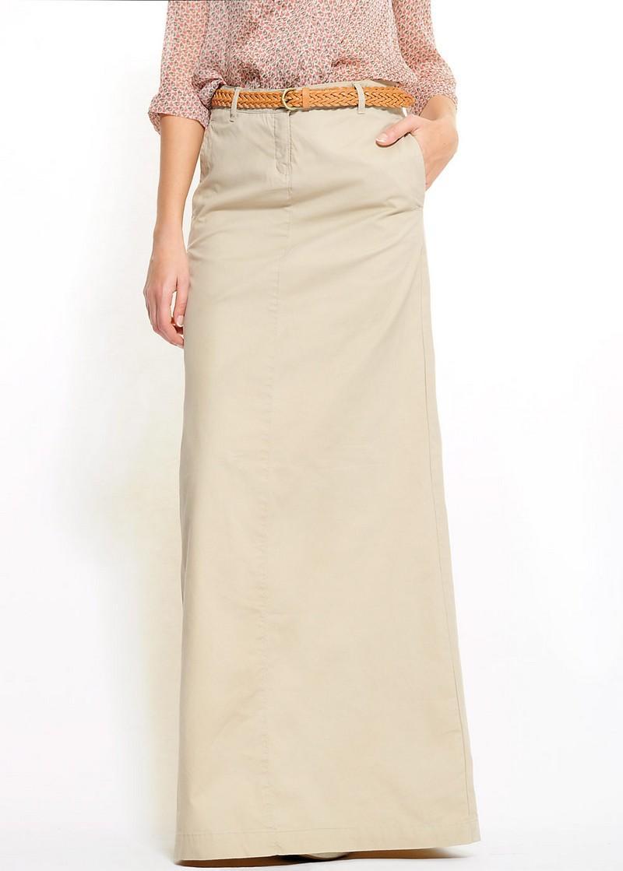 ecru spódnica Mango długa - wiosna-lato 2011
