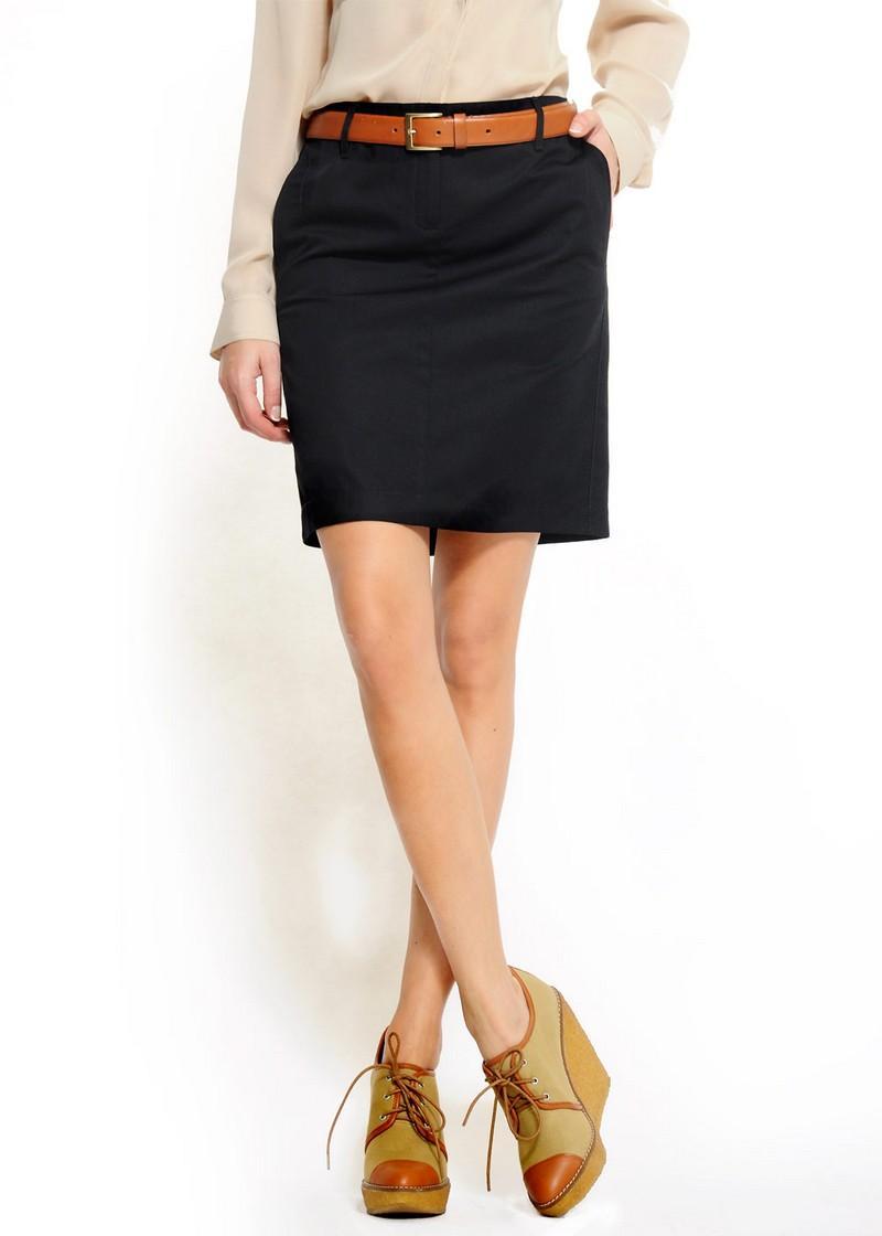 czarna spódnica Mango - trendy wiosna-lato
