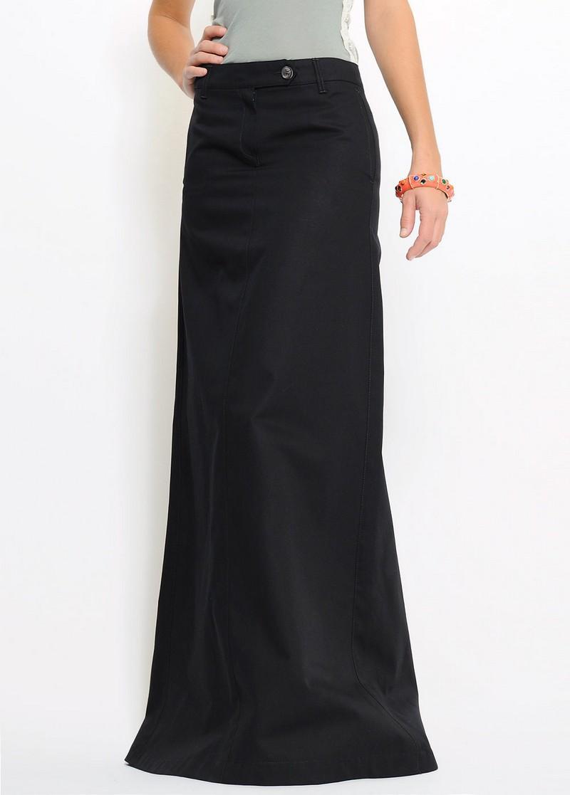 czarna spódnica Mango długa - kolekcja wiosenna