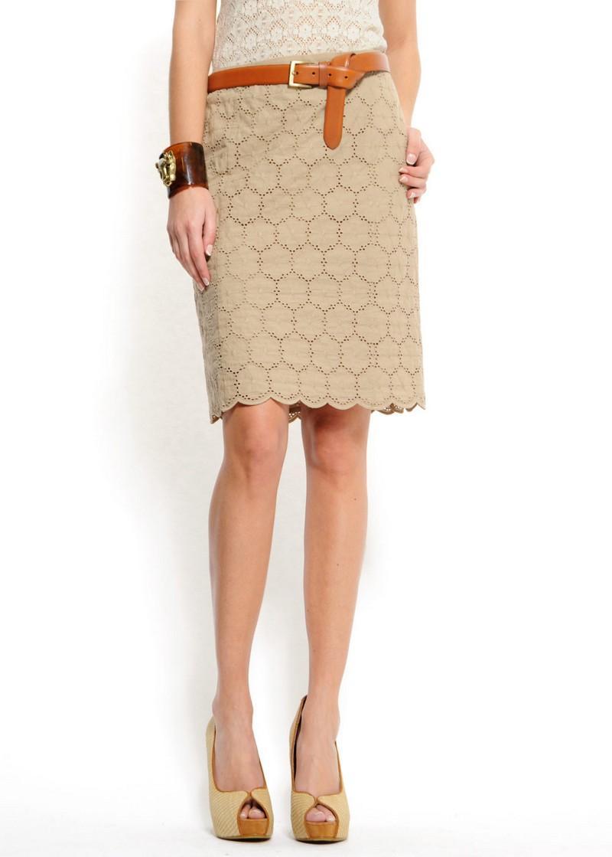 beżowa spódnica Mango - wiosna 2011