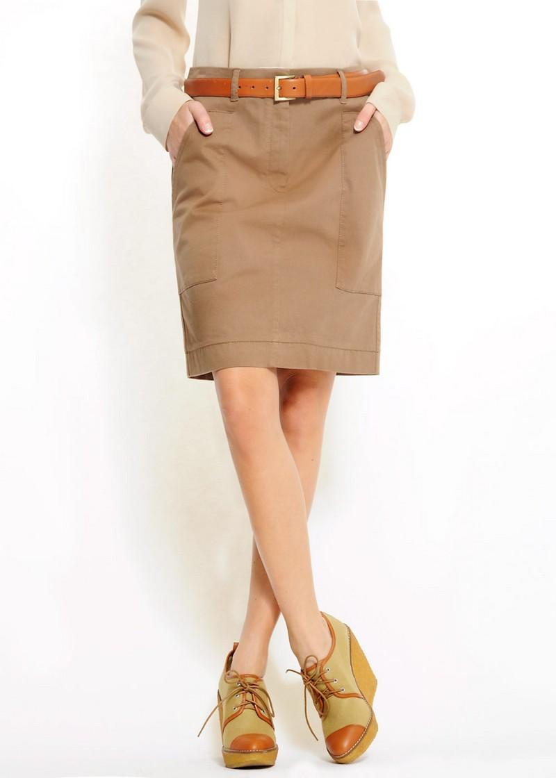 brązowa spódnica Mango - trendy wiosna-lato