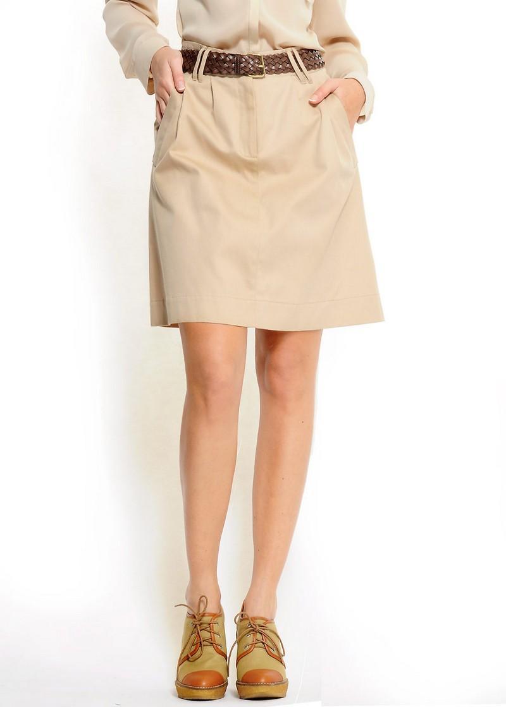 beżowa spódnica Mango - wiosna/lato 2011