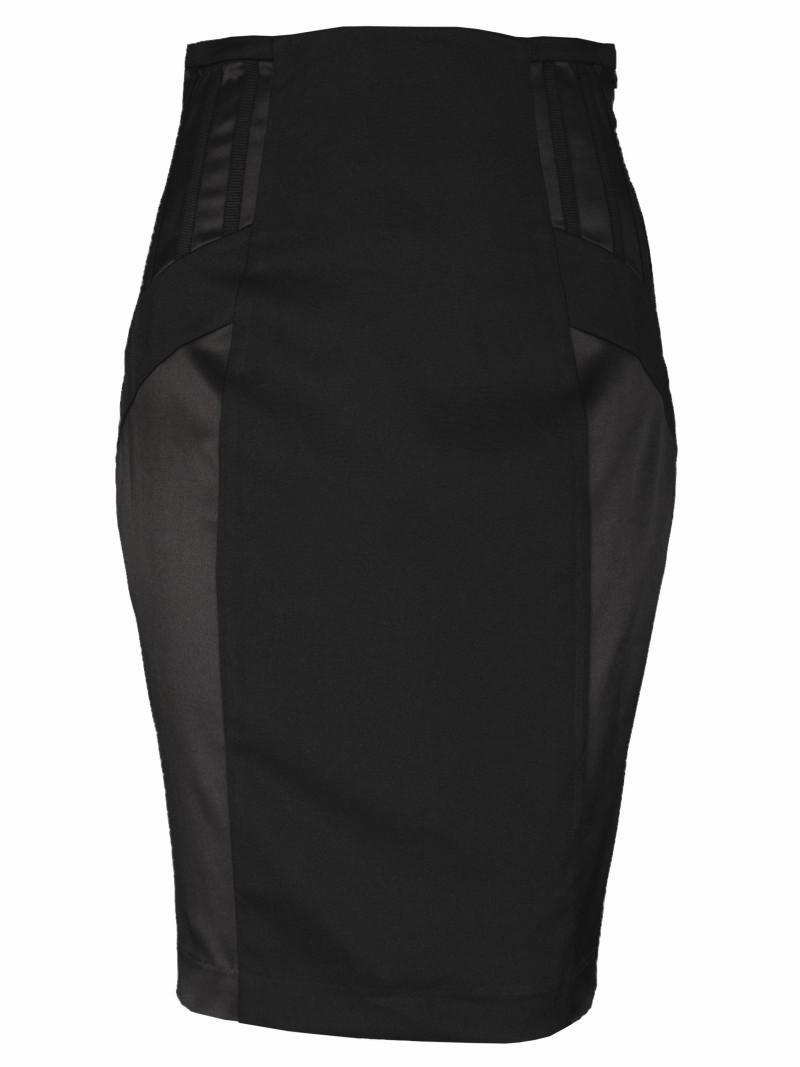 czarna spódnica Top Secret ołówkowa - wiosenna kolekcja