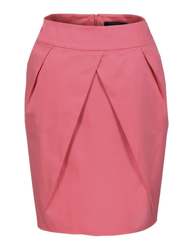 różowa spódnica Top Secret - z kolekcji wiosna-lato 2011