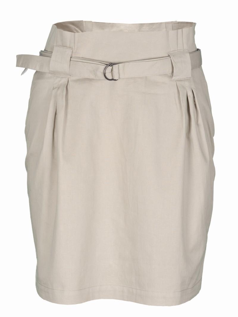 ecru spódnica Troll z paskiem - moda 2011