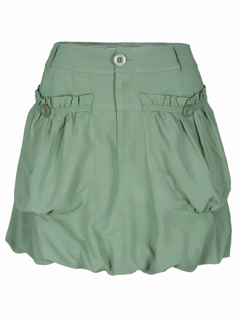 zielona spódnica Troll z kieszeniami bombka - moda 2011