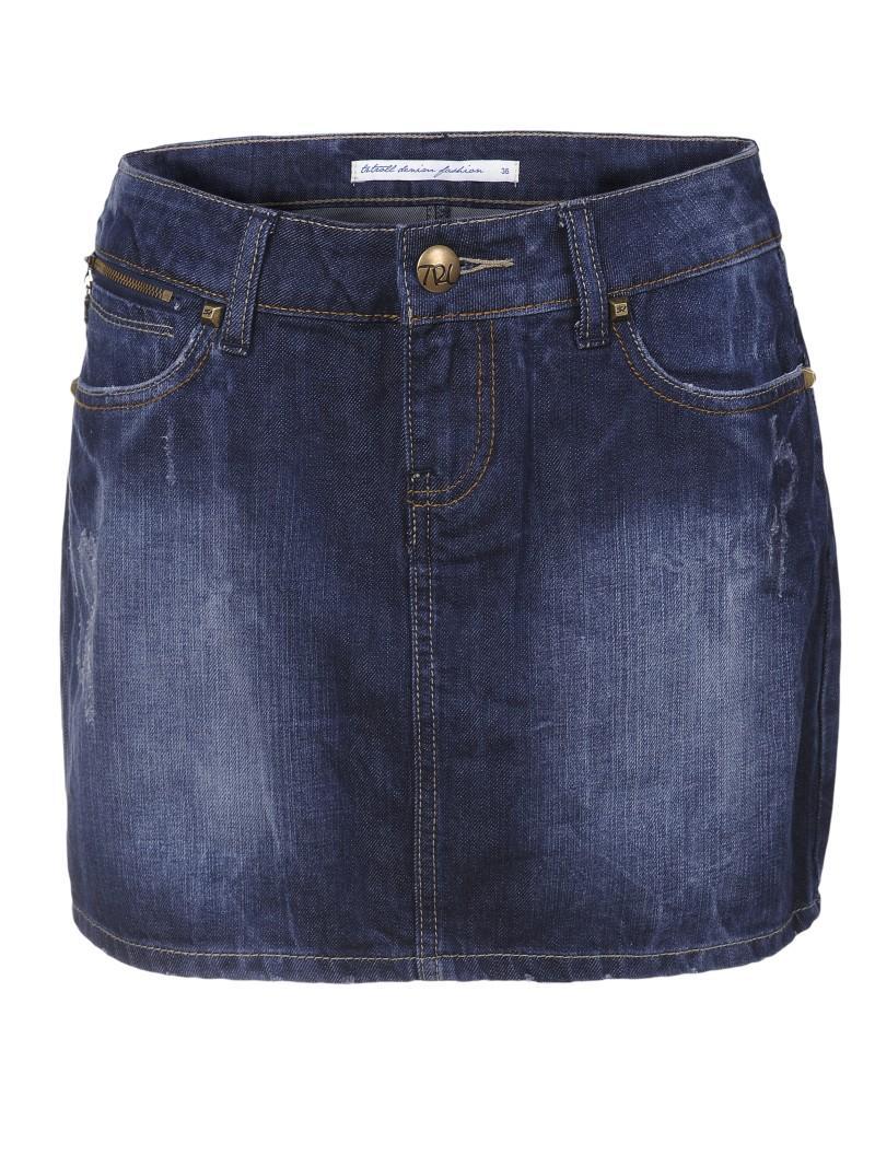 granatowa spódnica Troll dżinsowa - moda 2011