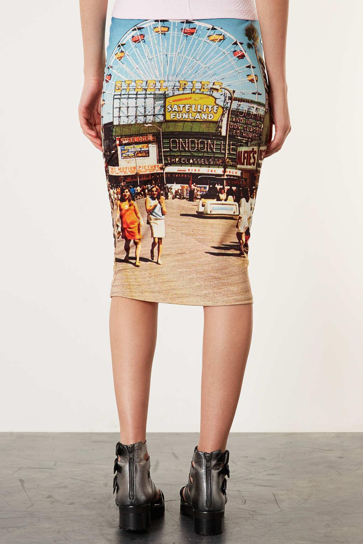 Spódnice tuby z nadrukami