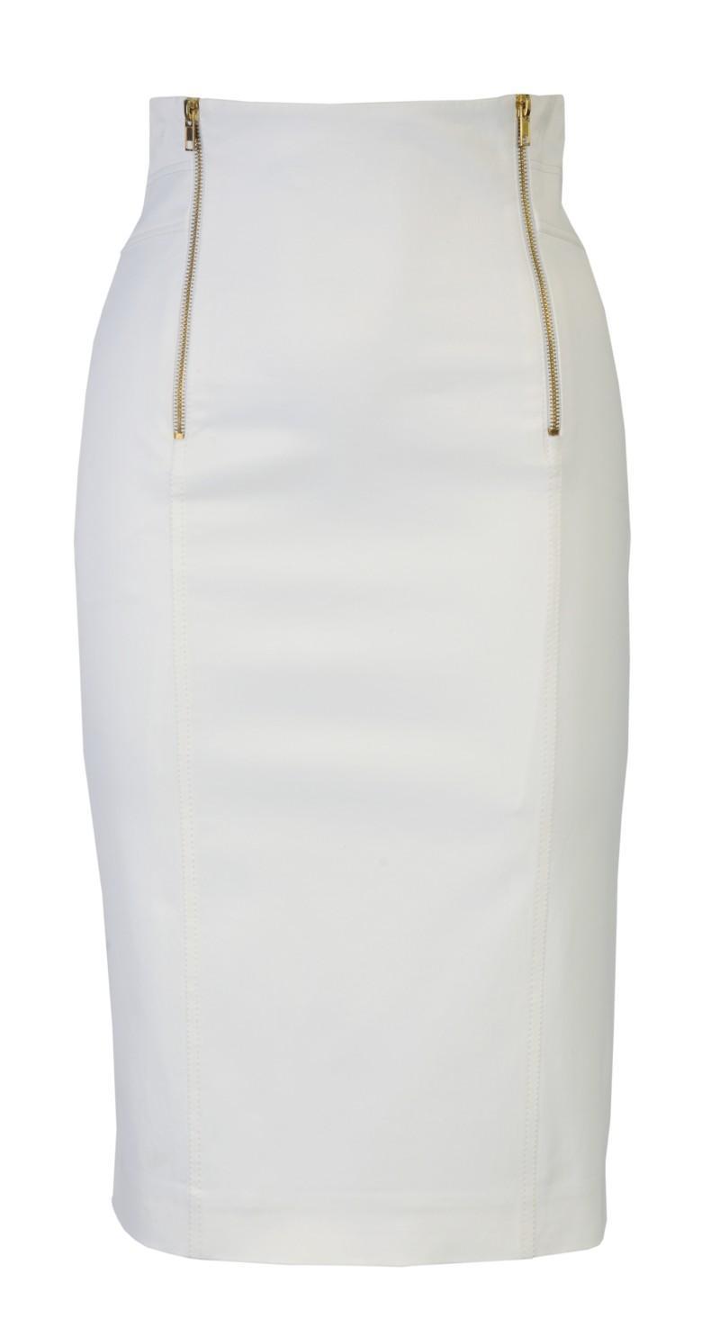 biała spódnica Molton - wiosna/lato 2011
