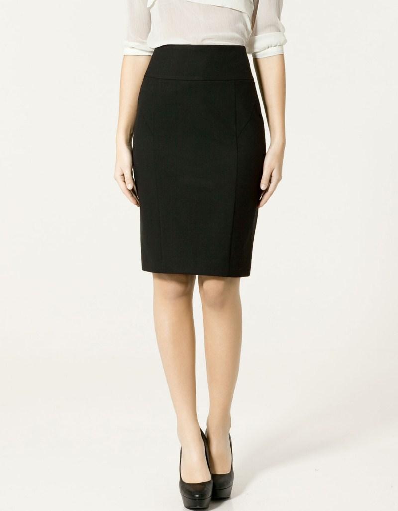 czarna spódnica ZARA ołówkowa - wiosenna kolekcja