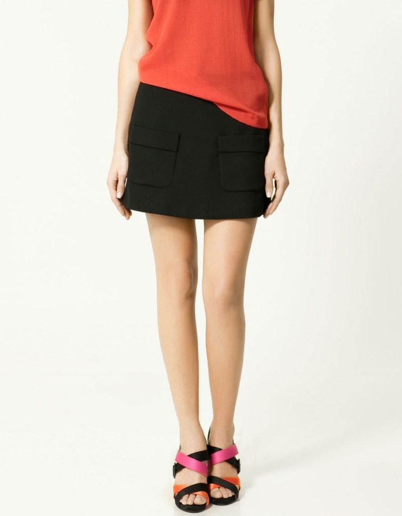 czarna spódnica ZARA - moda 2011