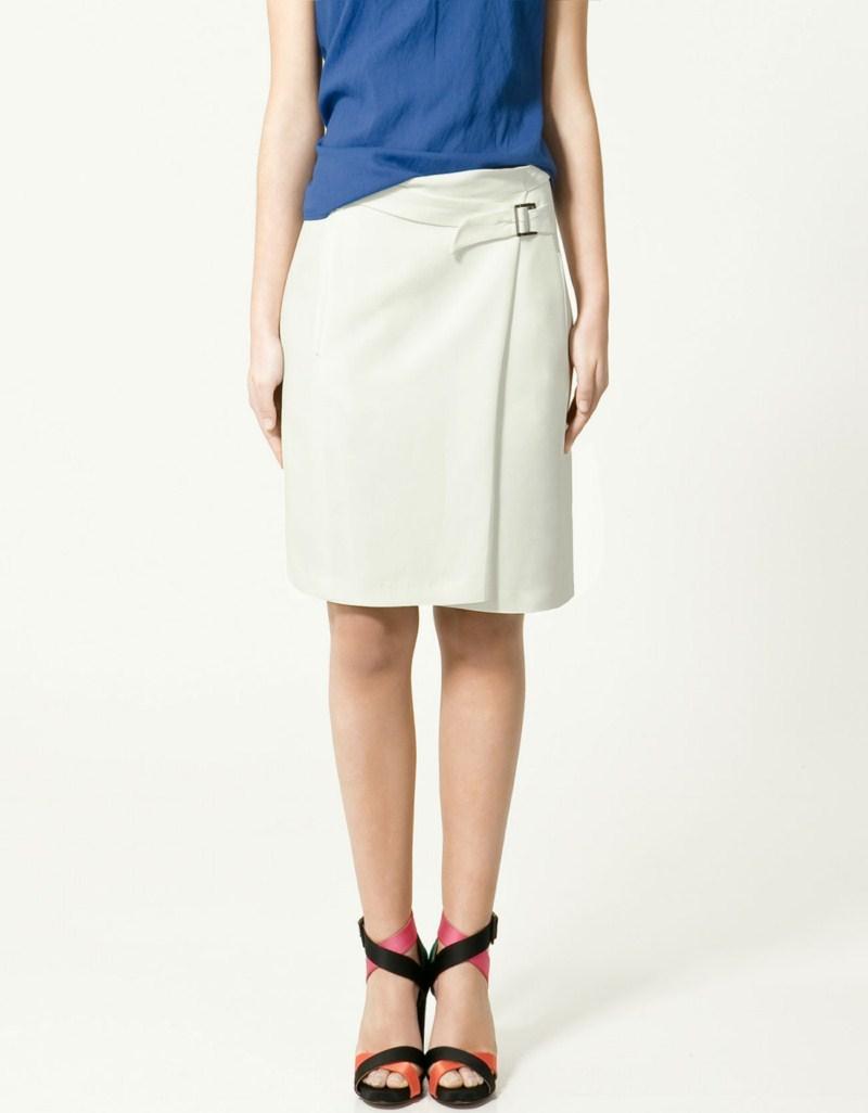 biała spódnica ZARA - z kolekcji wiosna-lato 2011
