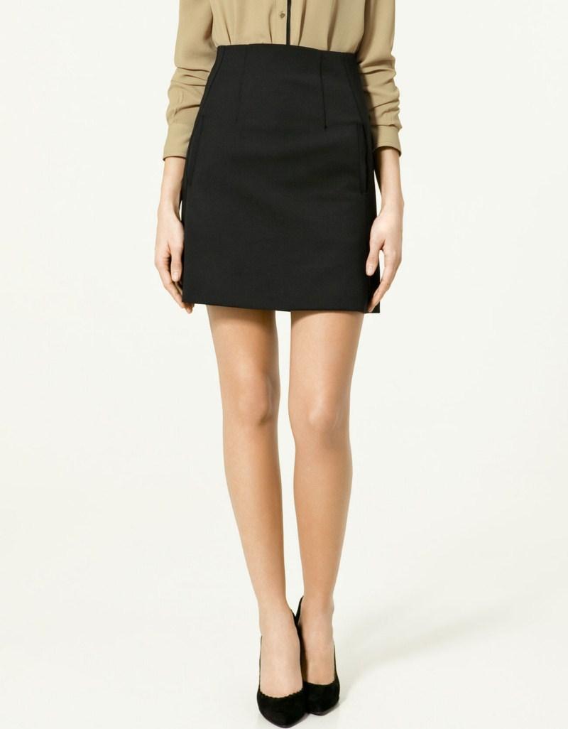 czarna spódnica ZARA - wiosna 2011